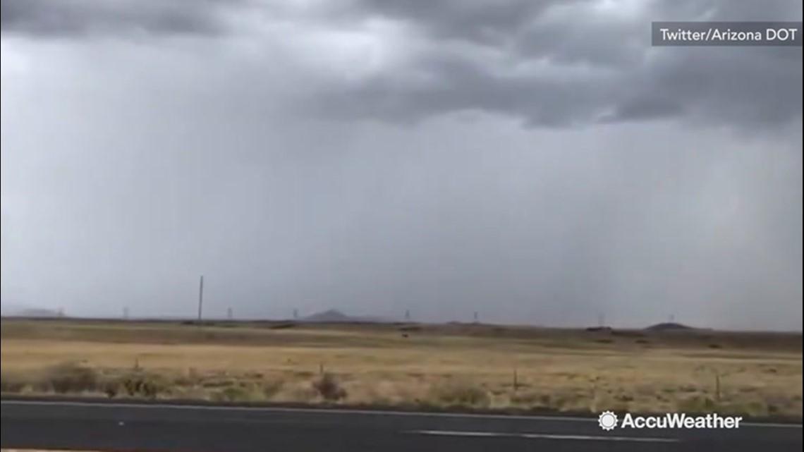 Dark clouds threaten highway travelers