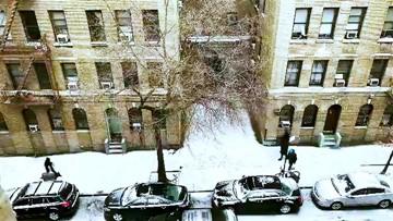 Snow is starting to stick around