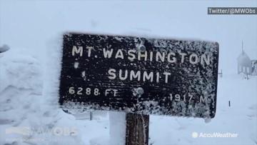 Snowy summit looks like the North Pole