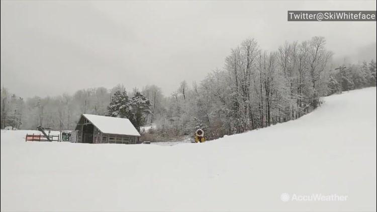 Snow keeps falling, ahead of opening weekend at this ski resort