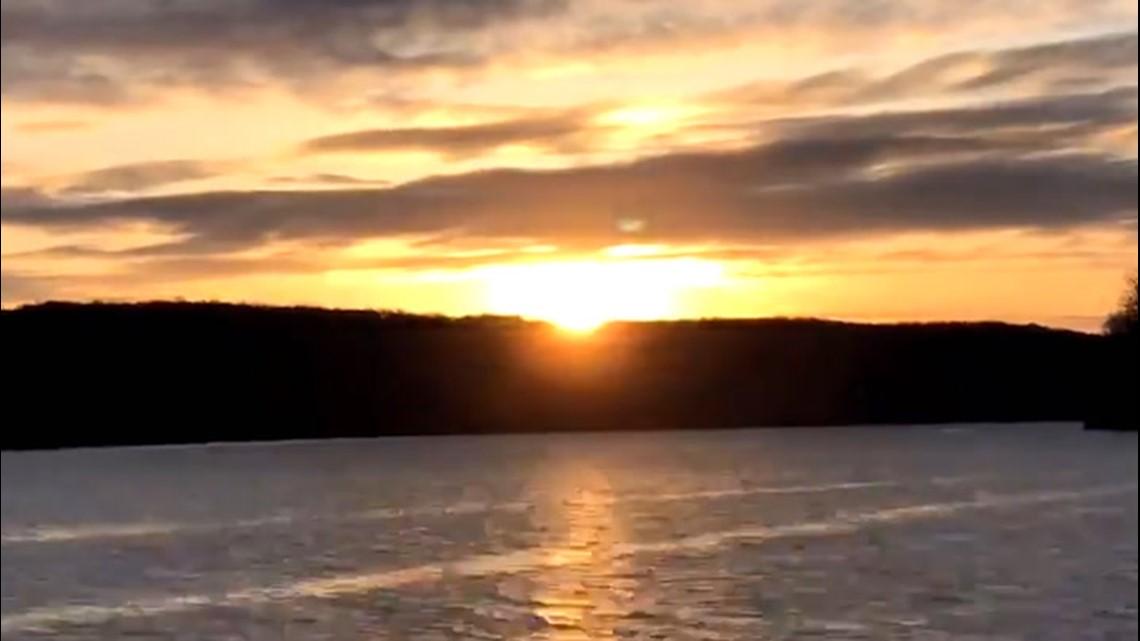 Stunning sunrise captured over the river