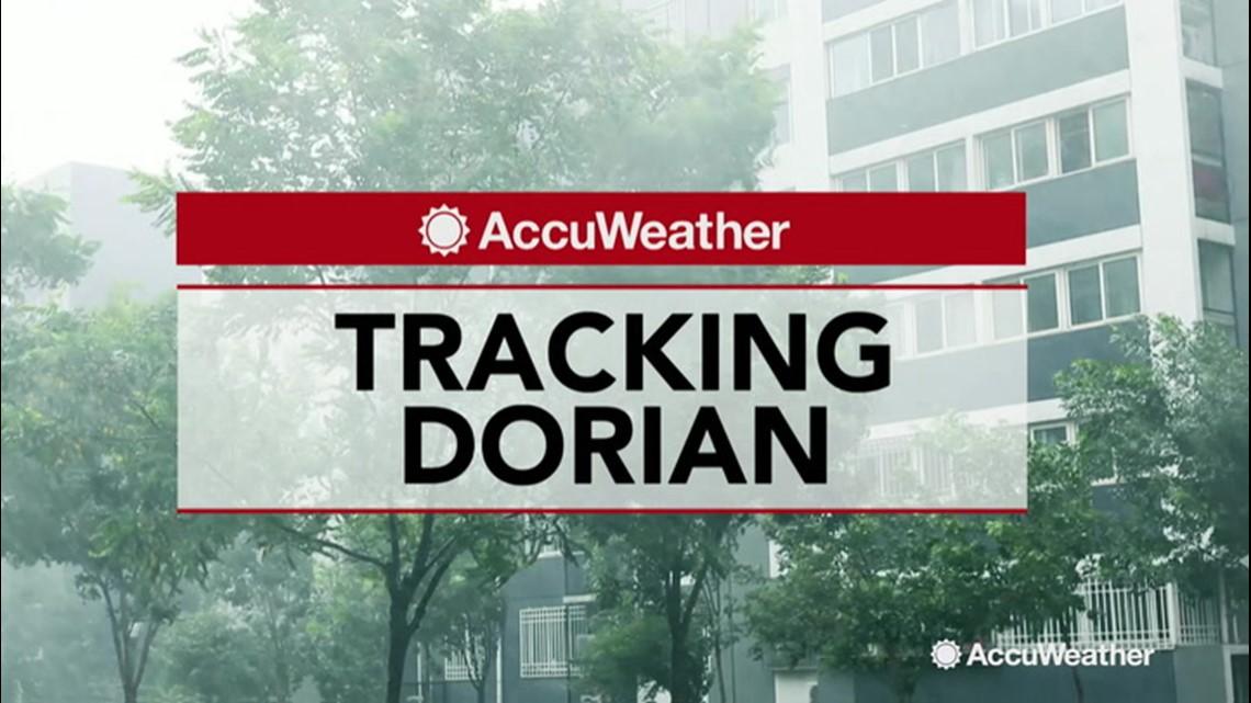 dorian gaining strength in the atlantic