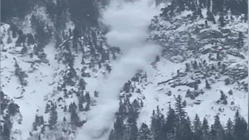 Intense snowfall triggers fast-moving avalanche