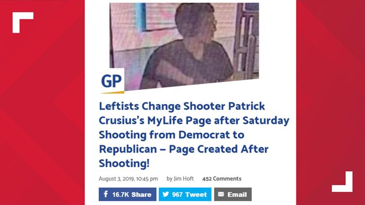 False claims about shooters' politics