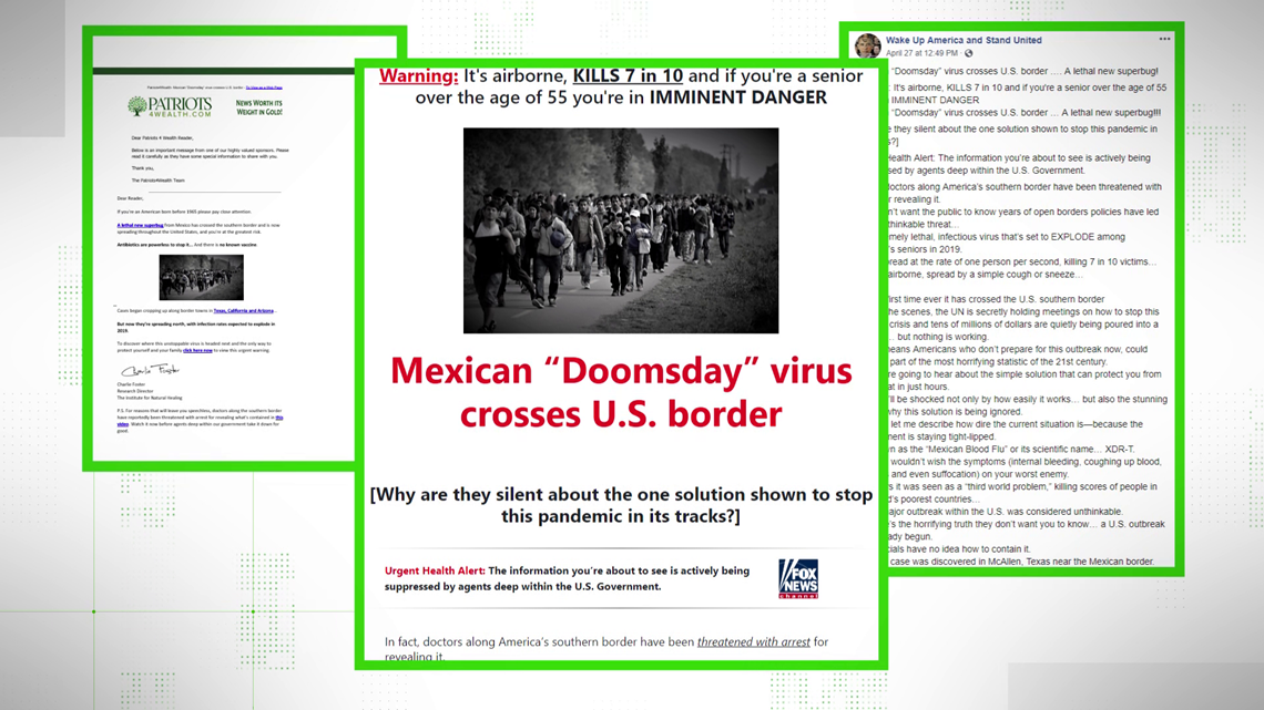 VERIFY: No, a Mexican 'Doomsday' Virus isn't sweeping across the US