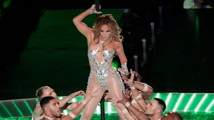 J lo halftime with group 49ers Chiefs Super Bowl Football