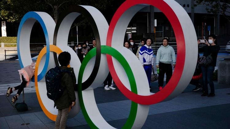 Tokyo Olympic rings AP Feb 2020