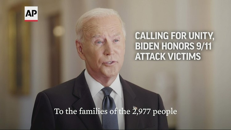 Calling for unity, Biden honors 9/11 attack victims