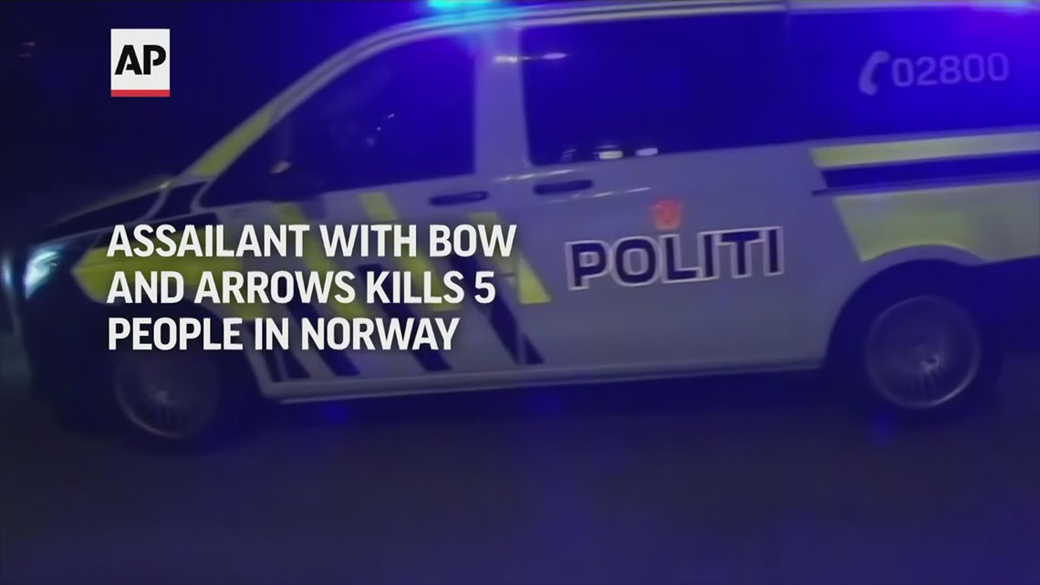 Man with bow kills 5 in Norway