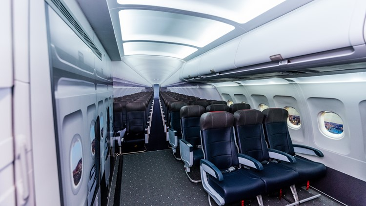 Sensory room airplane cabin