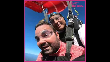 Paralyzed man skydives to help others