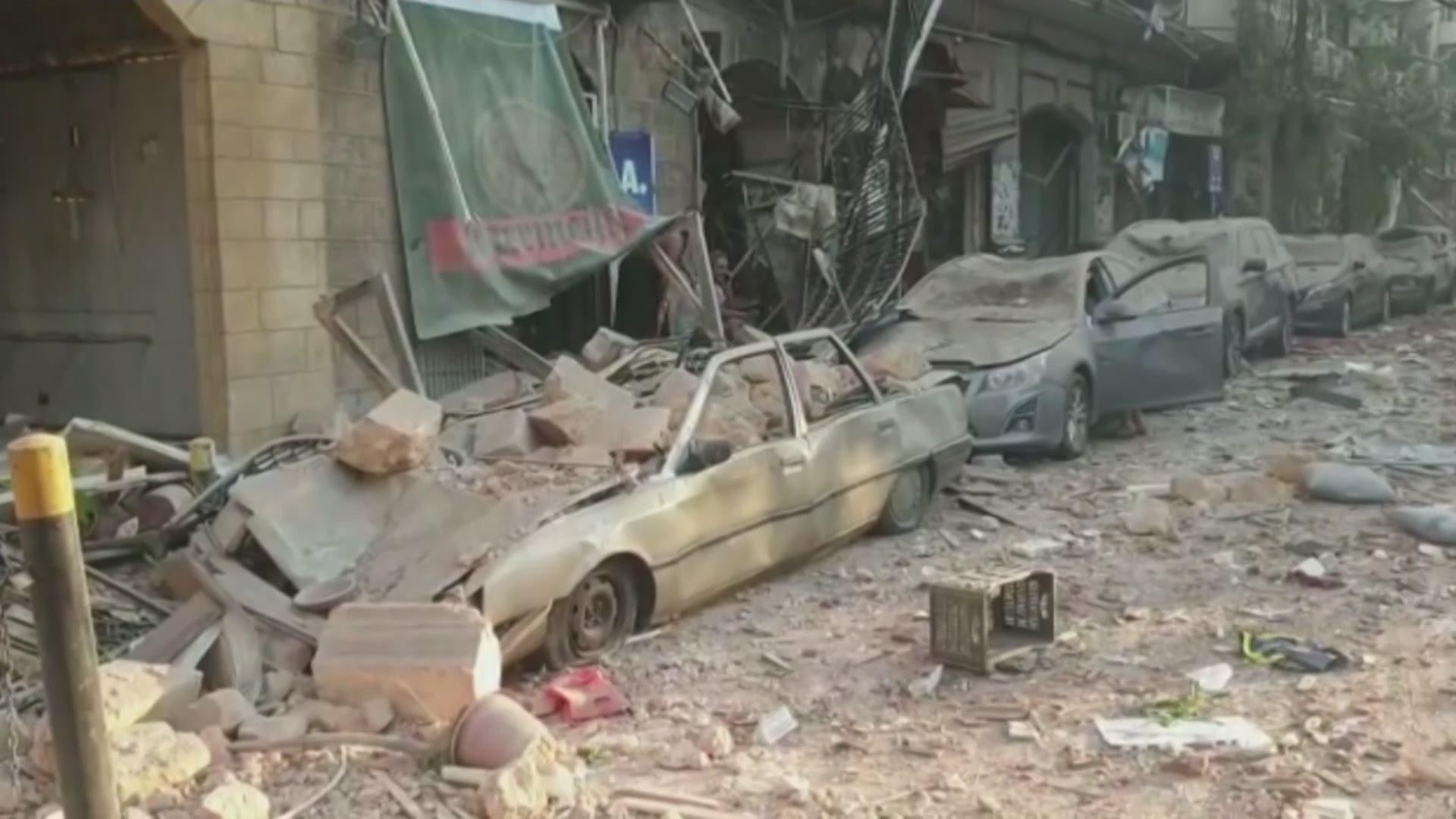 Massive explosion reported in Lebanon's capital Beirut   wfaa.com