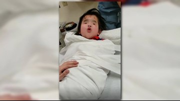 'Bravest girl of them all' | Singing helps girl born without eyes during hospital panic attack
