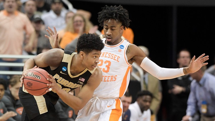 NCAA Purdue Tennessee Basketball Purdue and Tennessee