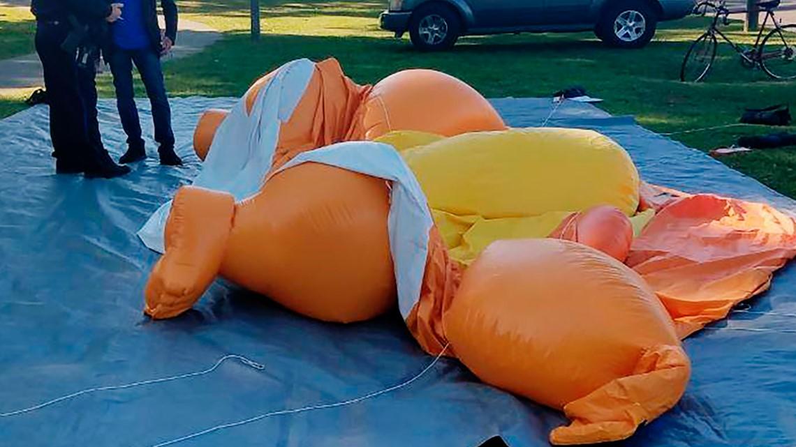 'Baby Trump' balloon slashed near Alabama-LSU game