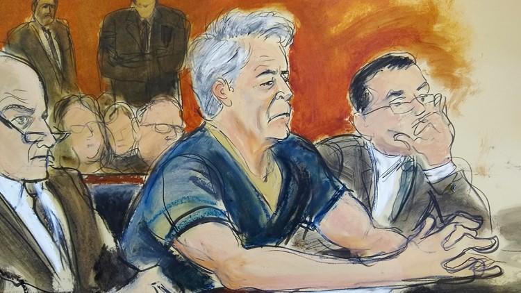 Jeffrey Epstein courtroom sketch July 8 2019