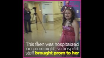 Hospitalized teen with Down syndrome gets prom surprise