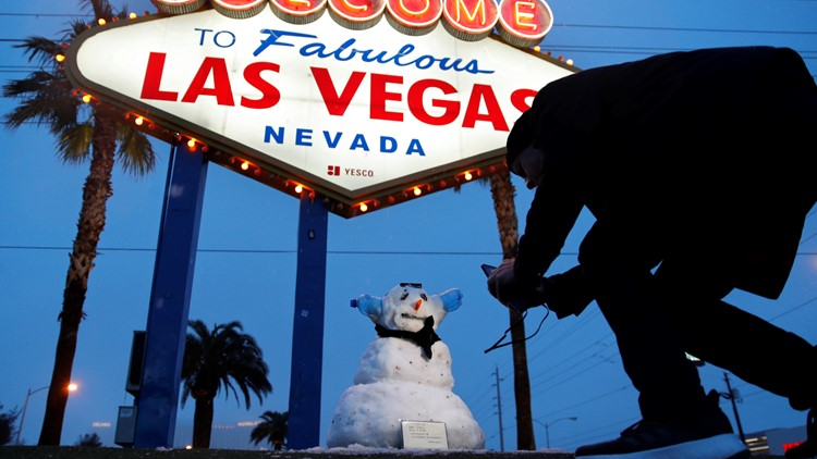APTOPIX Winter Weather Vegas
