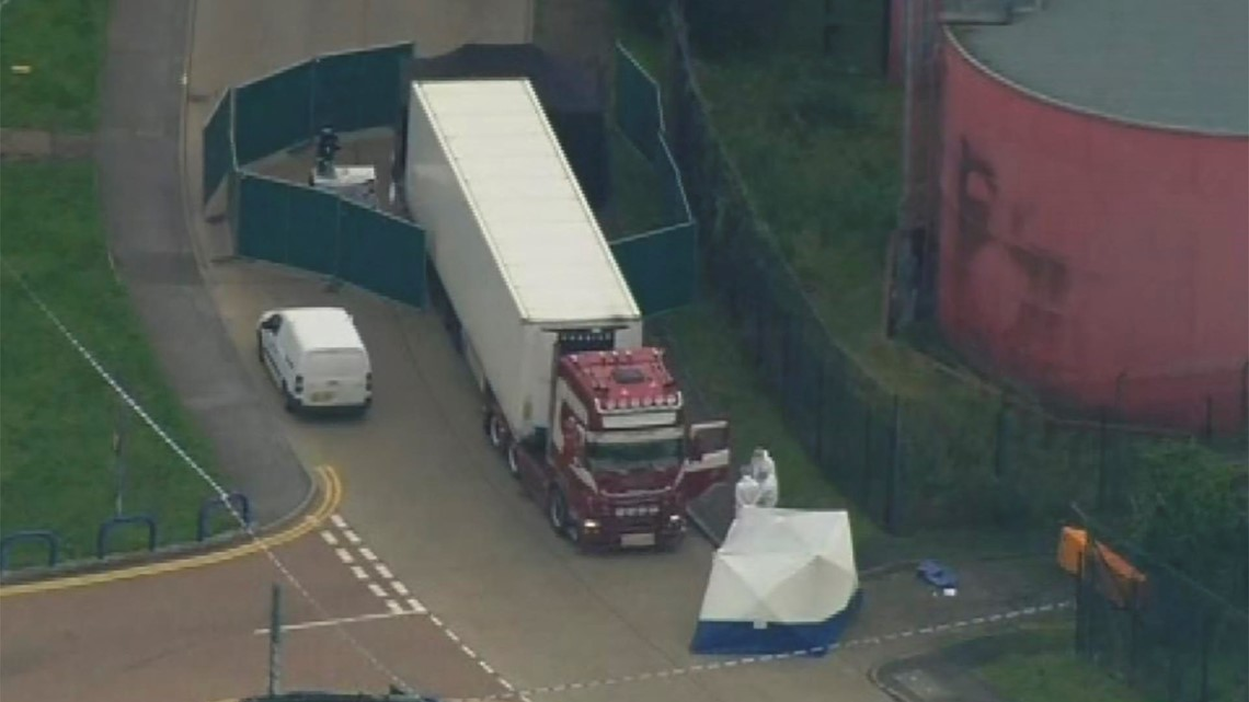 Murder probe in Britain after 39 dead found in back of truck