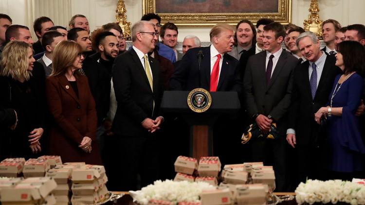 Trump NDSU champs White House 2019