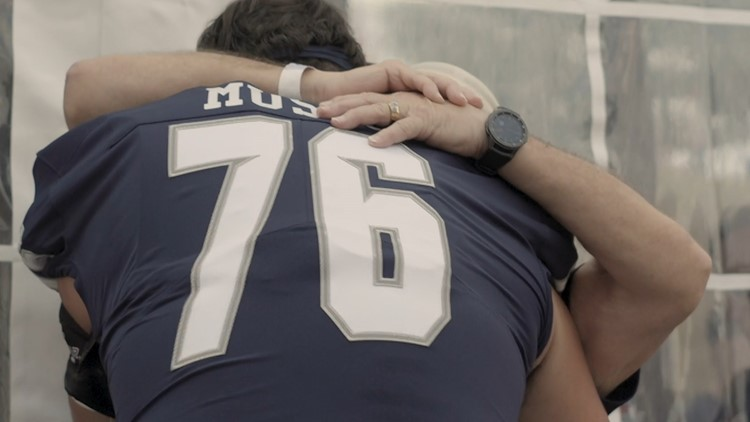 Watch the touching moment this football player stunned his step-father by changing his last name