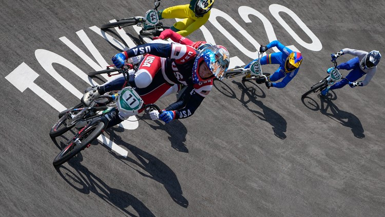 Reigning Olympic BMX gold medalist Fields stretchered off after qualifying crash