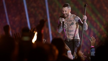 Fans question why Adam Levine can be shirtless at Super Bowl halftime after Janet Jackson incident