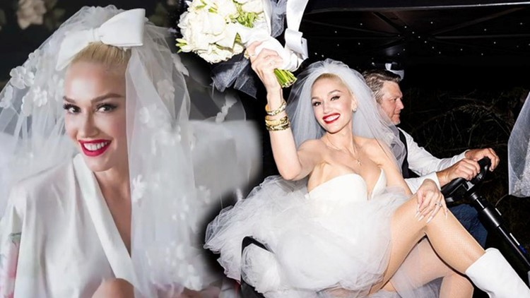 Gwen Stefani Shares the Moment She Picked Out Her Stunning Wedding Dress to Blake Shelton