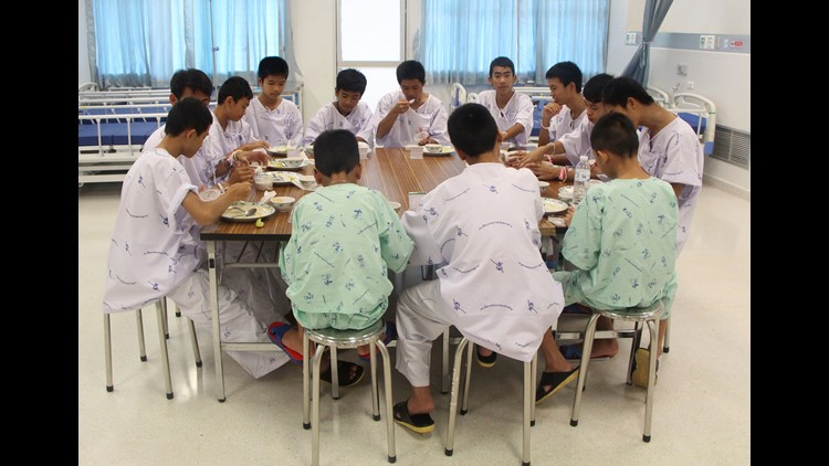 Thai youth soccer team leaves hospital after being trapped in cave