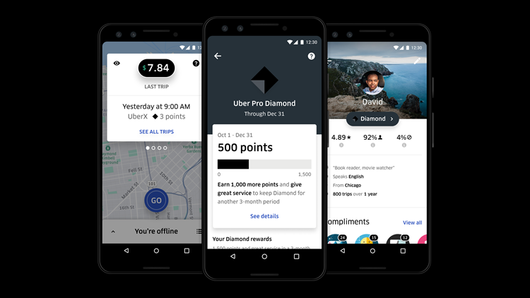 Uber ups its driver perks with 'Pro' program, including free