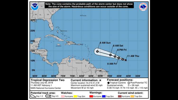 Tropical Storm Beryl forms, expected to weaken before hitting ...