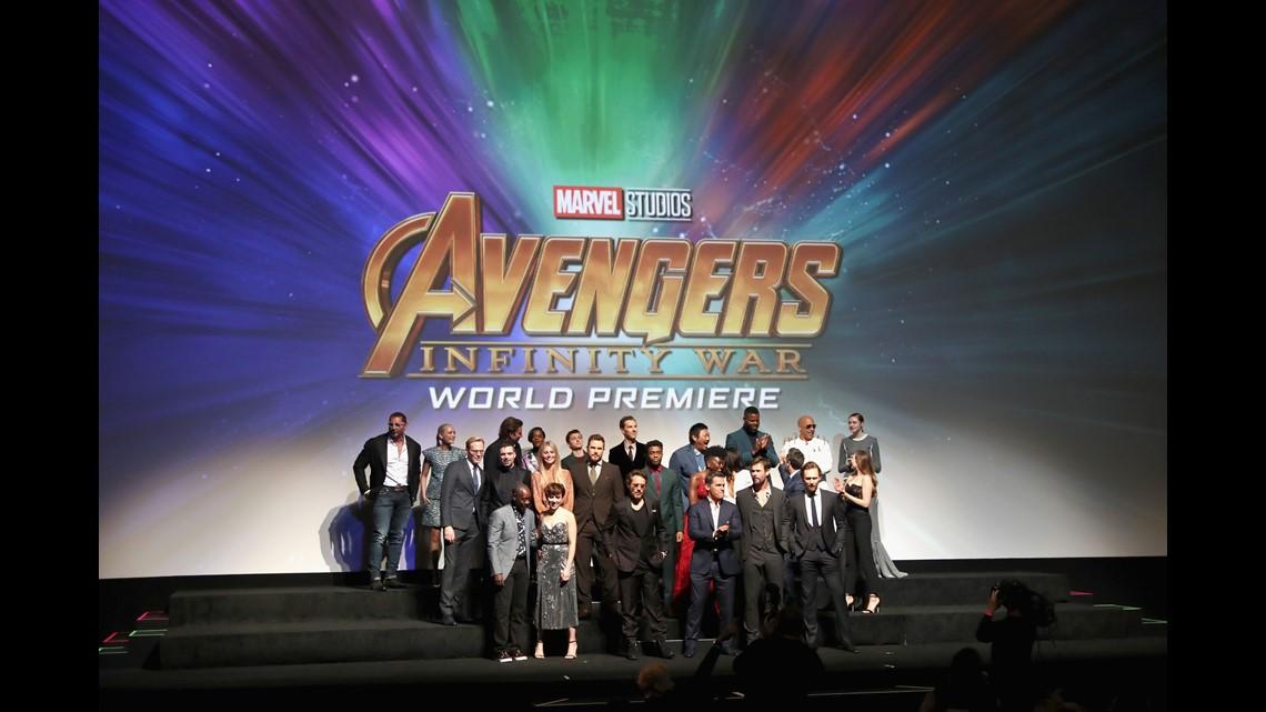 Avengers assemble for 'Infinity War' world premiere | wfaa com