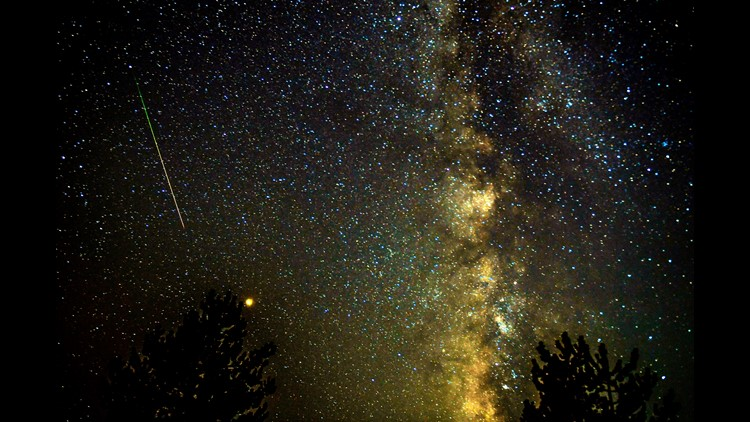 Dozens of meteors shot across the sky over the weekend during the annual Perseid meteor shower. See
