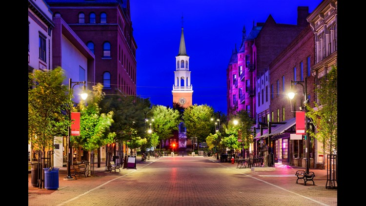 Church Street in Burlington, Vermont