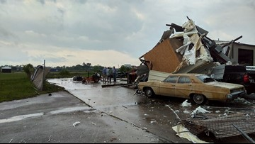 Likely tornado touches down in Northeast Brazos County