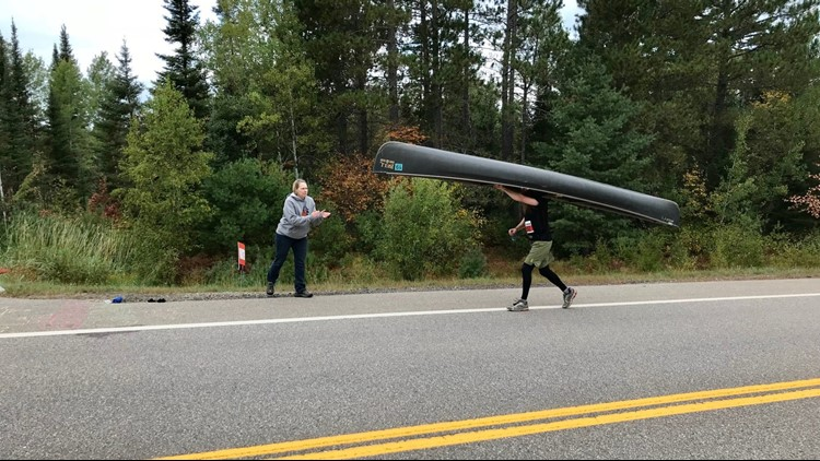 Ely hosts first-in-the-world canoe portaging marathon