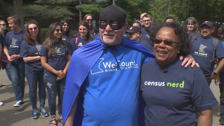 Census Man with Sharon Sayles Belton
