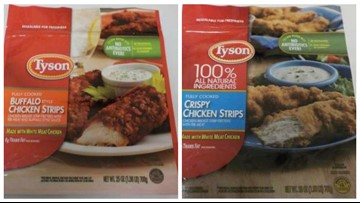 Tyson recalls 69,000 pounds of chicken strips due to metal pieces