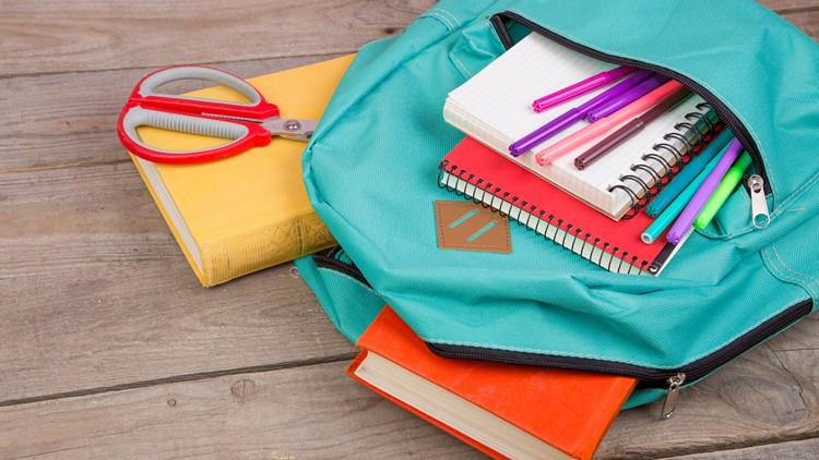 Backpack and school supplies-432346027