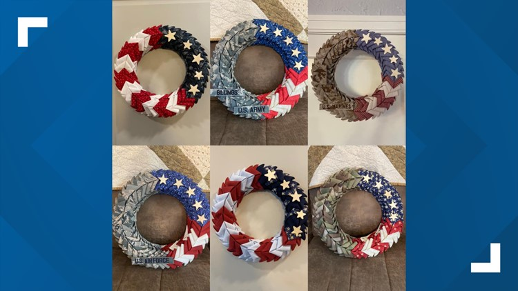 'Each wreath tells a story'   Military uniforms repurposed into wreaths by San Antonio airman