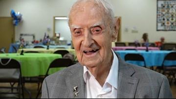 WWII veteran in Texas celebrates his 100th birthday