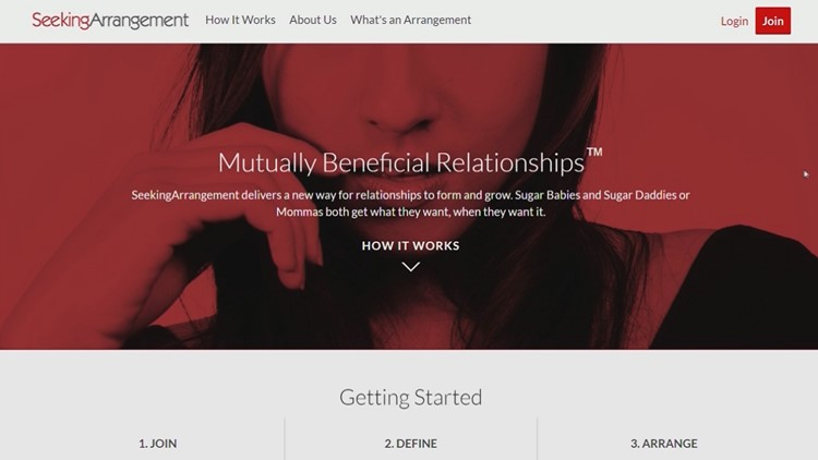 SeekingArrangement website
