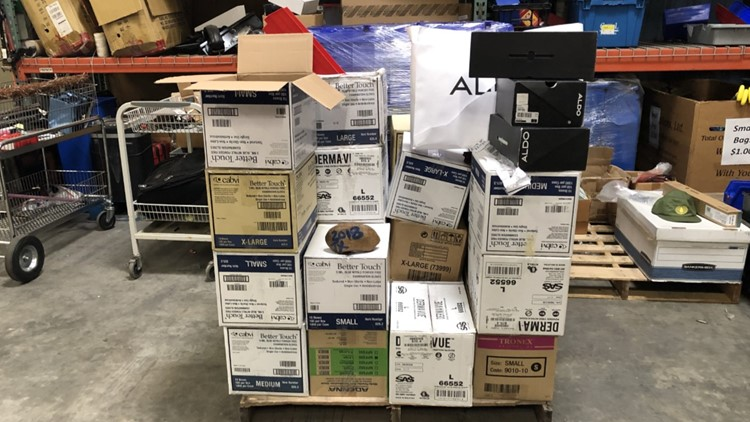 San Antonio Airport Boxes at Austin store