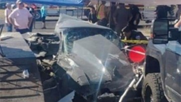 2 children dead, 8 people injured after car 'lost control' at drag race at Texas airport, authorities say