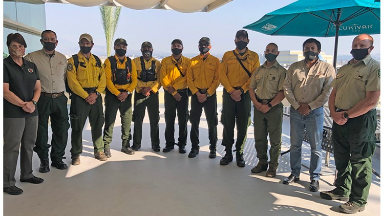 Mexico sends 101 firefighters to help in California