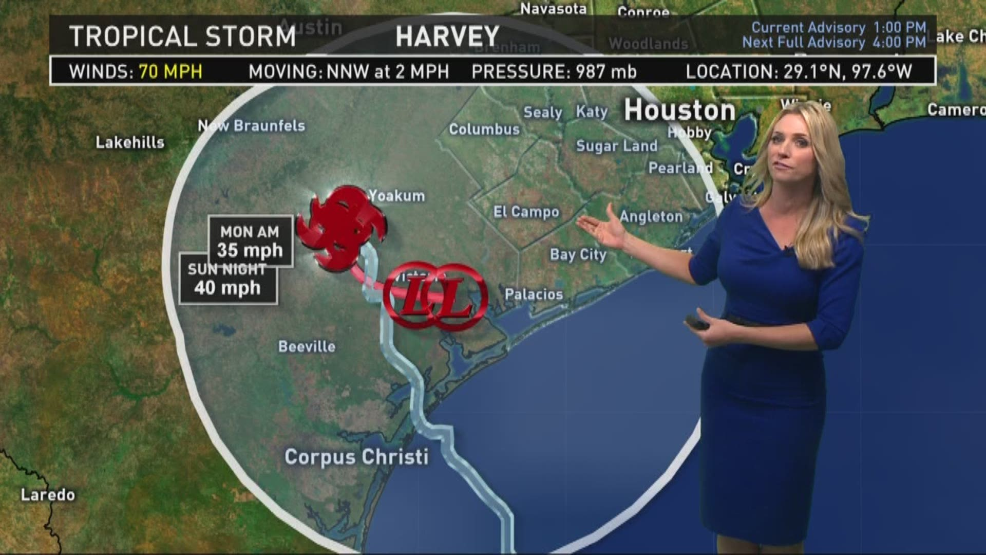 Tracking Harvey 1 30 P M Update And Forecast Wfaa Com