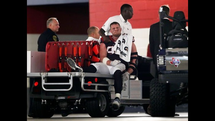 Five games into his return campaign, J.J. Watt suffered an injury that left him in tears and his team without its emotional leader and top defender.