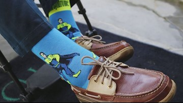 Bush 41, man with Down syndrome bonded over love for quirky socks