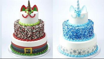 Sam's Club has Holiday Unicorn Cakes that feed 66 people