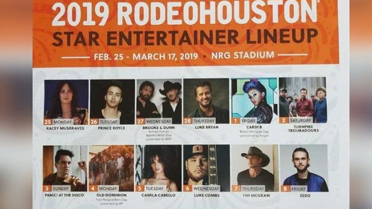 It's official: 'Leaked' 2019 RodeoHouston concert lineup is legit